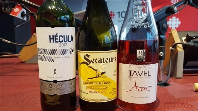 Trois vins: Hécula, Senateurs et Tavel