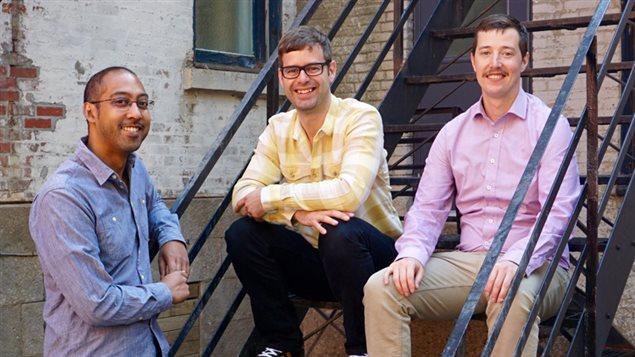 Les fondateurs de MTLinTech, Gabriel Sundaram, Ian Jeffrey et Joey Czikk