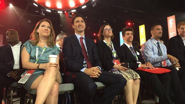 Le premier ministre Justin Trudeau au congrès de Winnipeg