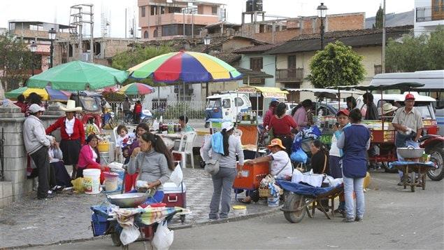 De la nourriture de rue au Pérou