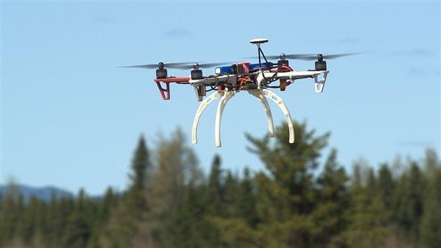 Un drone en plein vole