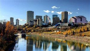 Le centre-ville d'Edmonton