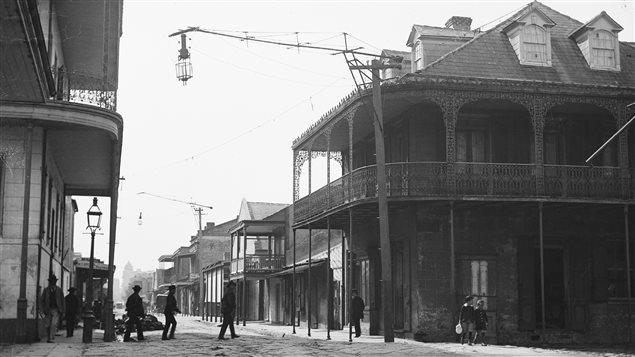 Une rue du Vieux carré français de La Nouvelle-Orléans