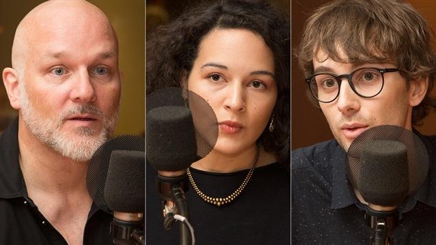 François Audet, Zoé Barry et Josselyn Guillarmou