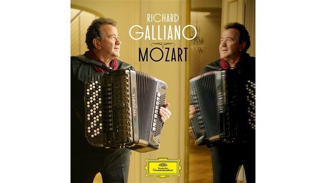 Pochette de l'album <i>Mozart</i> de Richard Galliano, paru sous étiquette Deutsche Grammophon