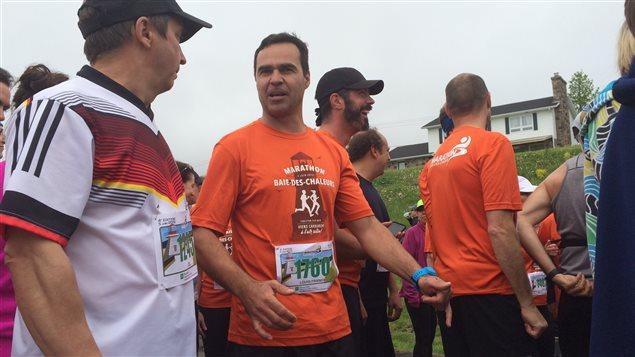 Louis-Franck Valade au marathon de la Baie-des-Chaleurs 2016