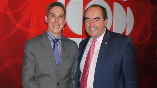 rédéric Tremblay, directeur du Bureau du Québec à Washington, et Jean-François Lépine, directeur des représentations du Québec en Chine
