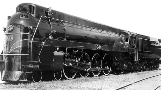 The NRC developed this new streamlined design specifcally created to keep smoke out of the driver's compartment The locomotive was used during part of the Royal Tour of Canada in 1939, and adopted for the new Thomas and Friends childrens movie http://www.rcinet.ca/en/2016/04/12/canadian-locomotive-joins-thomas-and-friends/