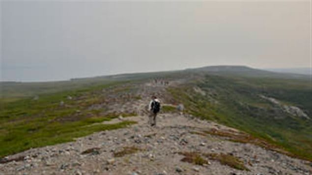 Dan Hodkinson, a field operations manager with NASA's Carbon Cycle and Ecosystems Office, and other NASA researchers hike to remote locations to measure the condition of vegetation in the Arctic tundra of Canada's Northwest Territories. The ground measurements will be used to validate satellite data to give researchers more insight into how climate change is influencing the northern ecosystems