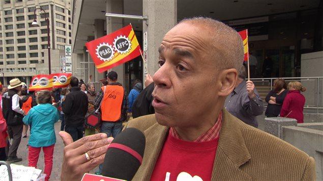 Larry Rousseau, vice-président exécutif de l'Alliance de la fonction publique du Canada