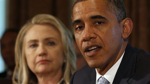 Le président Obama avec Hillary Clinton en juillet 2012