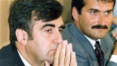 Lucien Bouchard et Jean Lapierre, fondateurs du Bloc québécois, en 1990