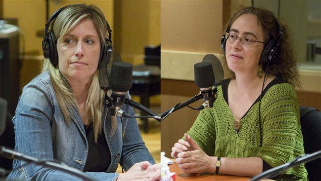 Nadia Gagnier, psychologue, et Violaine Cousineau, commissaire à la Commission scolaire de Montréal