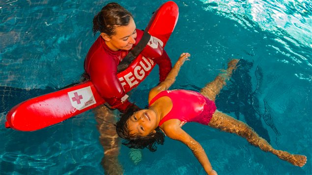The Red Cross Swim program teaches both swimming skills and water safety.