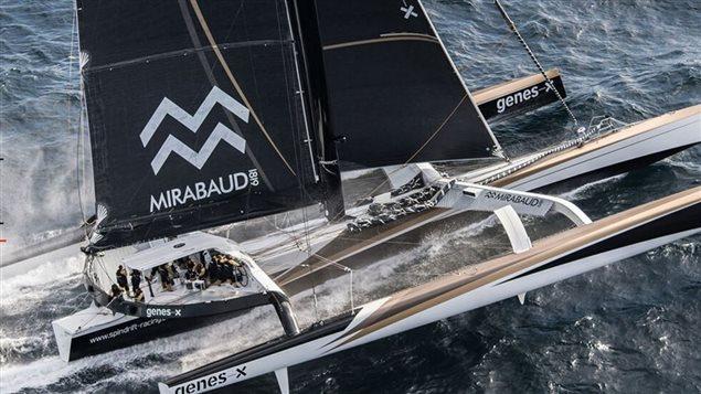 Le Spindrift 2 sera du d�part de la Transat 2016, ce g�ant des mers qui d�tient de nombreux records sera barr� par Yann Guichard