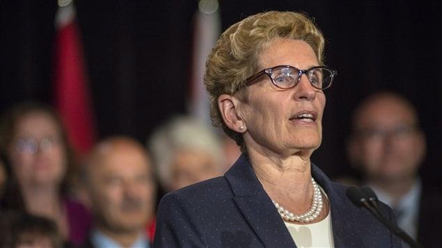 Kathleen Wynne, primera ministra de la provincia de Ontario.