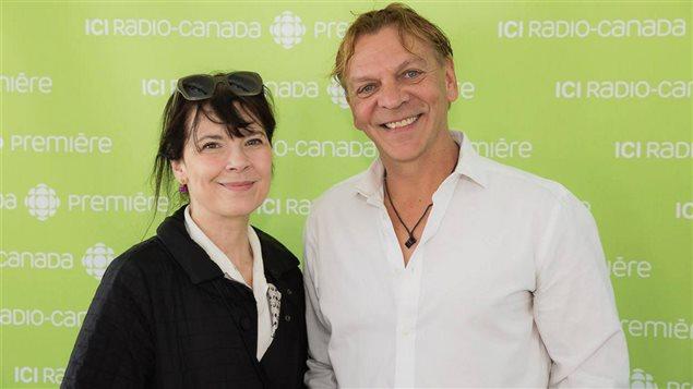 Anne Dorval et Marc Labr�che lors du lancement de la saison estival d'ICI Radio-Canada Premi�re
