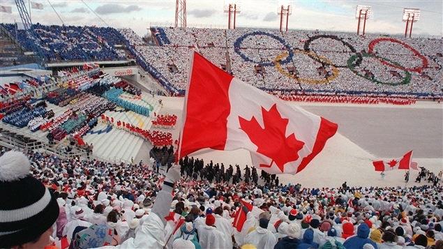 La cérémonie d'ouverture des Jeux olympiques de Calgary