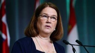 La ministre de la Santé Jane Philpott parle à la Conférence nationale sur la santé à Ottawa lundi. (Sean Kilpatrick / Presse canadienne)