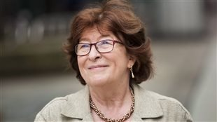 Louise Arbour, former Justice of the Supreme Court of Canada and the United Nations High Commissioner for Human Rights, smiles after having her star unveiled on Canada's Walk of Fame in Toronto on Monday, June 8, 2015.