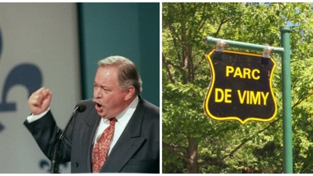 Jacques Parizeau, led a referendum campaign in the mainly French-speaking province of Quebec that almost led to the breakup of the country. Now Montreal wants to honour him by renaming Vimy Park in his honour.