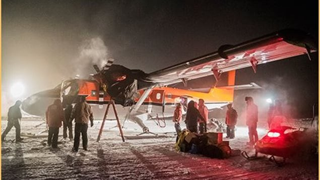 The Twin Otter aircraft flying an Antarctic medical-evacuation mission has left the National Science Foundation's Amundsen-Scott South Pole Station en route to the British Antarctic Survey's Rothera Station.