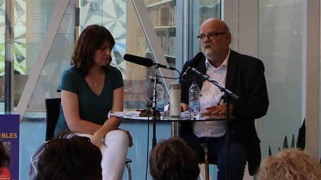 Marie-Louise Arsenault reçoit Serge Bouchard pour la série Les incontournables : portraits d'auteurs (2016)