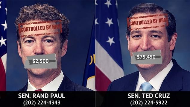 Les sénateurs Rand Paul et Ted Cruz sont visés par la campagne de dénonciation du Center for American Progress