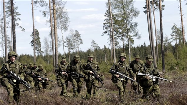 Estonian soldiers take part in NATO military exercise Hedgehog 2015 at the Tapa training range in Estonia May 12, 2015.