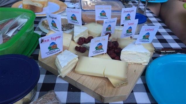 Une s�lection de fromages de la Fromagerie du presbyt�re