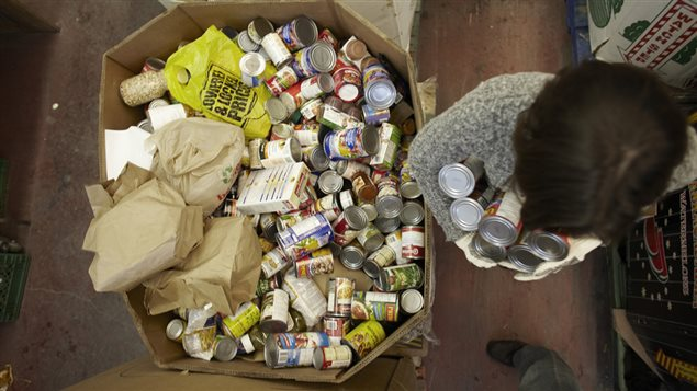 About 900,000 Canadians use food banks every month. One-third are children.