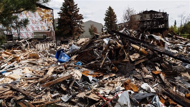 Thousands of homes were destroyed when wildfires ripped through fort McMurray.