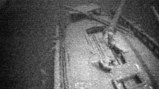 The wreck of the Royal Albert was found by Jim Kennard, Roger Pawlowski and Roland Stevens using a side-scan sonar.