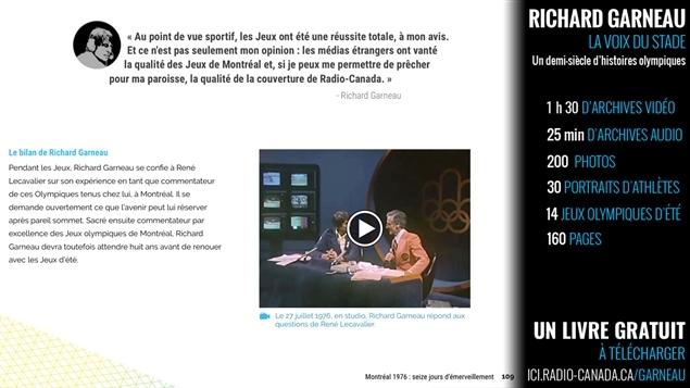 Extrait du livre Richard Garneau : la voix du stade - un demi-siècle d'histoires olympiques © Radio-Canada