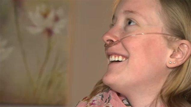 Sarah-Ève Fontaine, avant de recevoir sa greffe des poumons