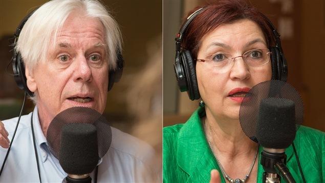 Dennis Trudeau et Fatima Houda-Pepin