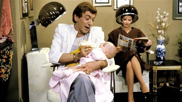 Andr� Montmorency dans la peau de Christian Lalancette, c�l�bre personnage de <I>Chez Denise</I> en 1981