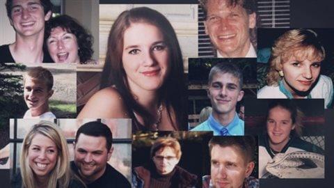 Montage de victimes de surdoses mortelles causées par le fentanyl.