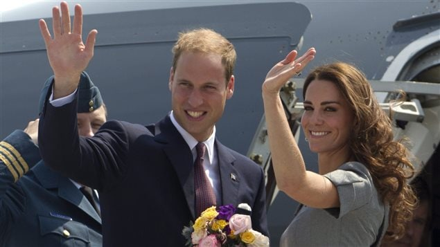 Prince William and Kate, the Duke and Duchess of Cambridge, wave as they board their plane as they leave Ottawa, Ontario, en route to Montreal during their Royal Tour of Canada Saturday, July 2, 2011.