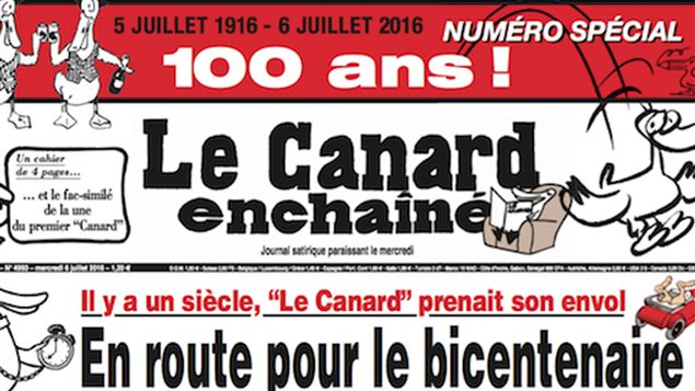 Une du numéro spécial du Canard enchaîné pour ses 100 ans