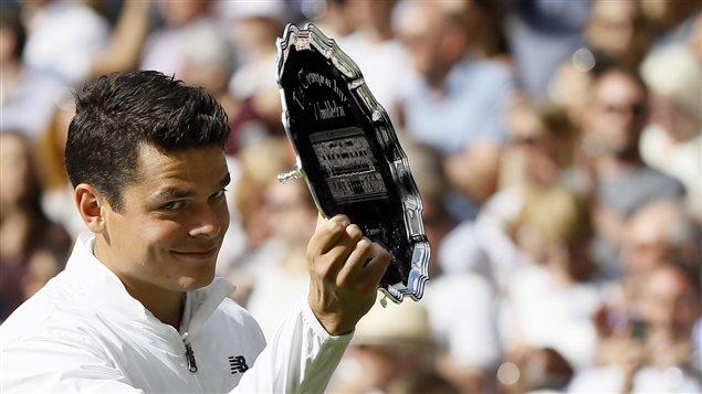 Milos Raonic, le premier Canadien à se rendre en finale simple messieurs à Wimbledon.
