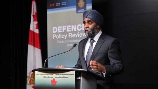 Harjit Sajjan, Ministre canadien de la Défense nationale