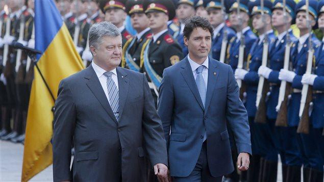 Le président ukrainien Petro Poroshenko et le premier ministre Justin Trudeau, le 11 juillet 2016
