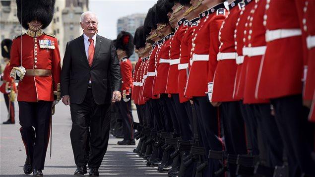 Le gouverneur général du Canada, David Johnston