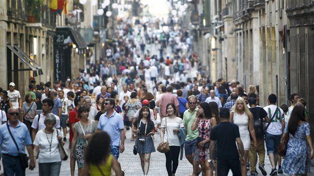 Des touristes à Barcelone
