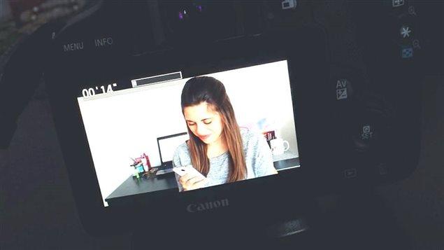 Tournage d'une capsule vidéo de Mélissa Lévesque
