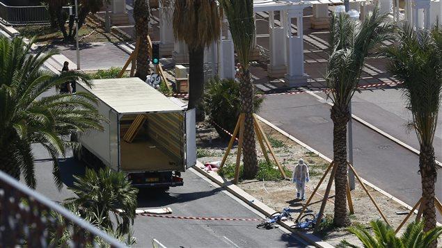 Le camion de l'auteur de l'attentat à Nice