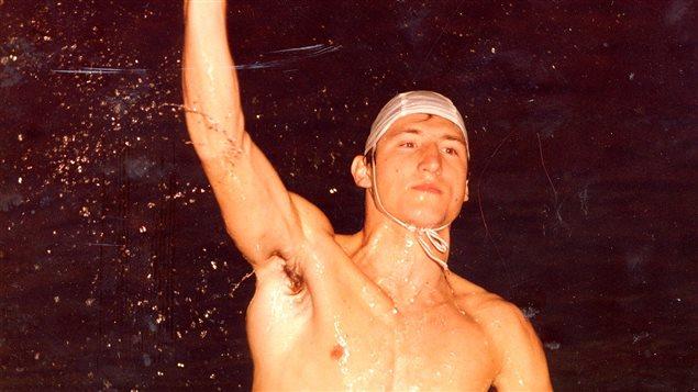 Gabor Csepregi, membre de l'équipe canadienne de water-polo aux Jeux olympiques de Montréal, en 1976