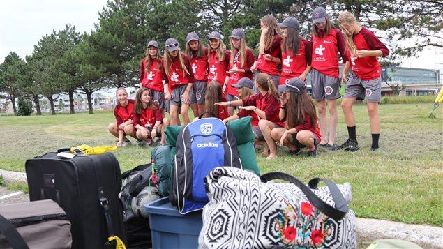 Une équipe de soccer féminine de la région de Québec