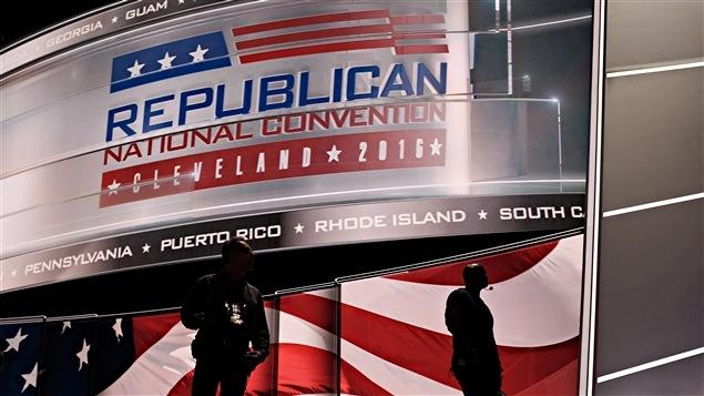 L'aréna Quickens Loans à Cleveland est prêt à recevoir la convention républicaine qui se déroulera jusqu'au 21 juillet.